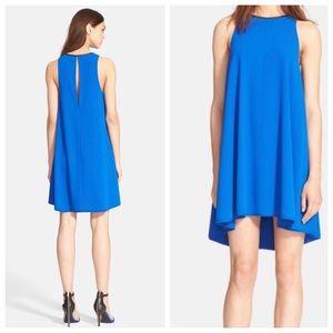 NWT Alexander Wang Leather Trim Blue Dress